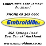 Logo embroidery and t shirt printing experts in East Tamaki Auckland