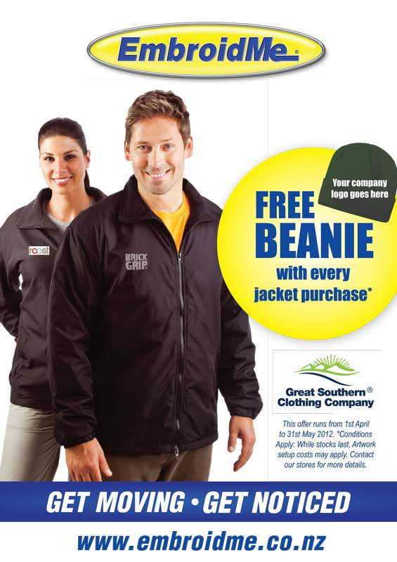EmbroidMe winter jacket promotions