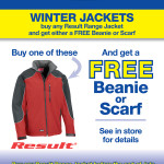 Winter Jacket Promotion for all of June and July!